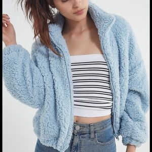 Urban Outfitters Willow Drawstring Teddy Jacket